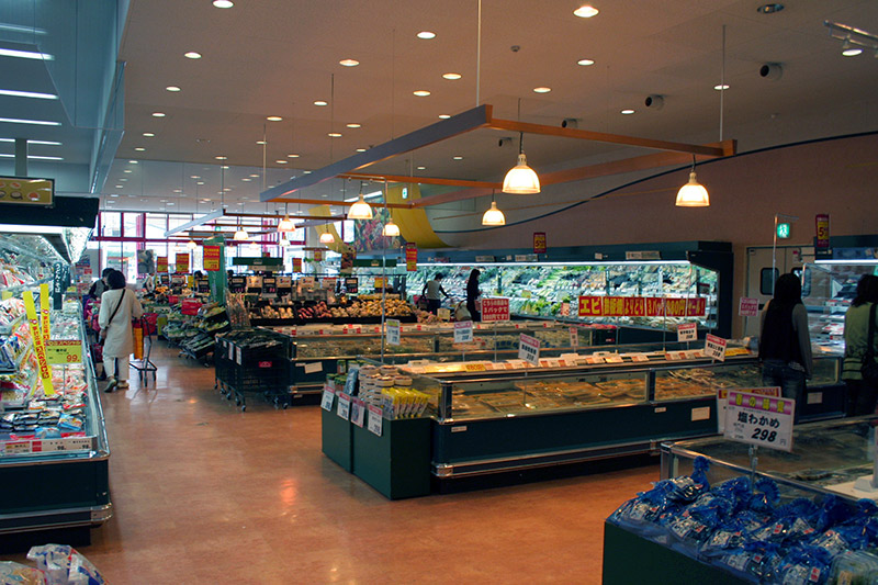 inside of a supermarket in japan