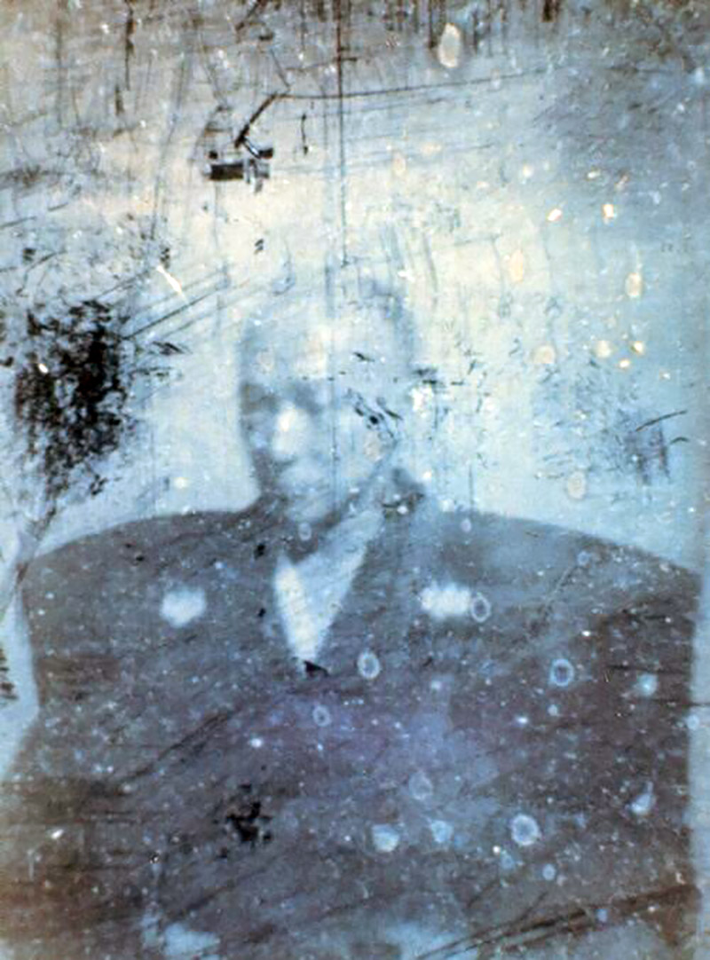 damaged photograph of Shimazu Nariakira
