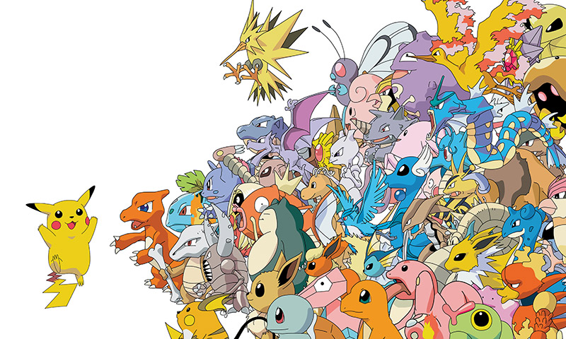 picture of many pokemon