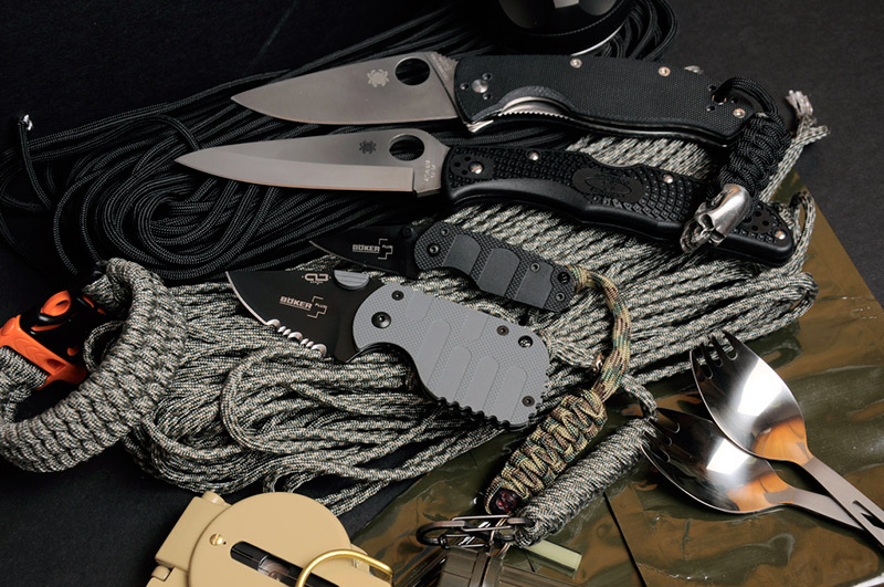 knives rope survival equipment