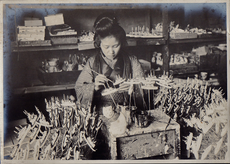 photograph of female Japanese artisan