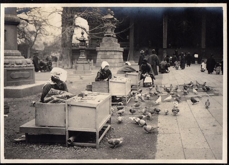 vendors at a shrine