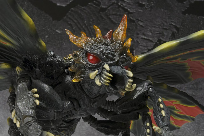 Battra, a winged kaiju with yellow and black markings