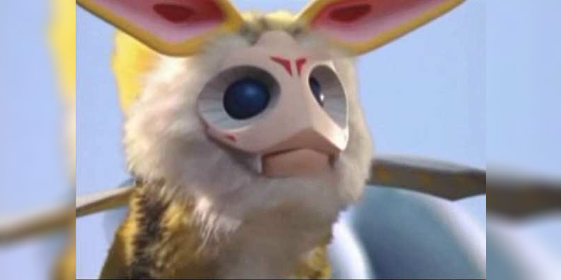 Hanejiro, a kaiju with large eyes and moth or rabbit-like ears