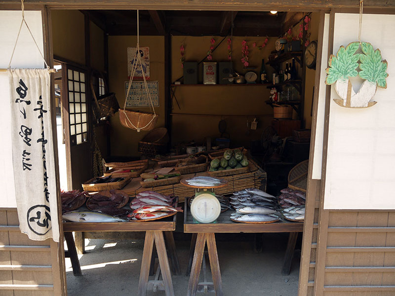 edo era fish market grocery store movie set