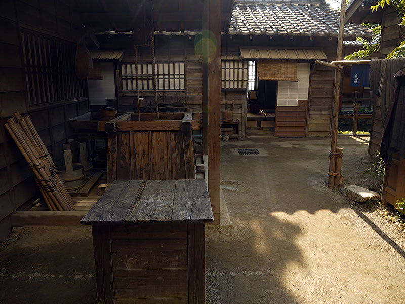 japanese wooden working studio yard edo era