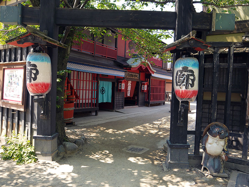 yoshiwara entrance to brothel japanese red light district