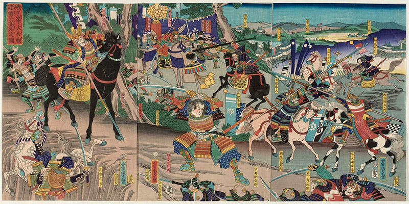 painting of the battle of shizugatake