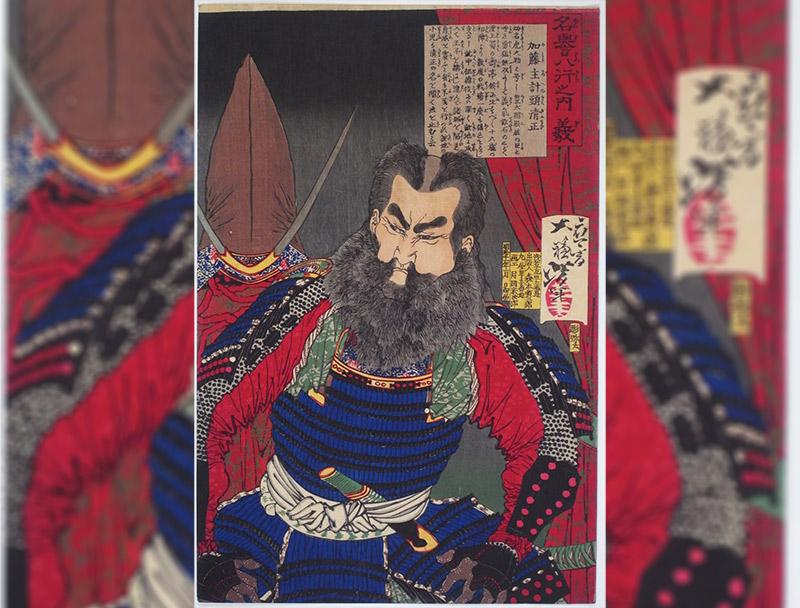 woodblack print of Kato Kiyomasa