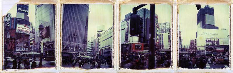 Series of four Polaroids of Shibuya, Tokyo