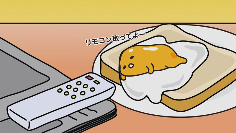 Gudetama stretching