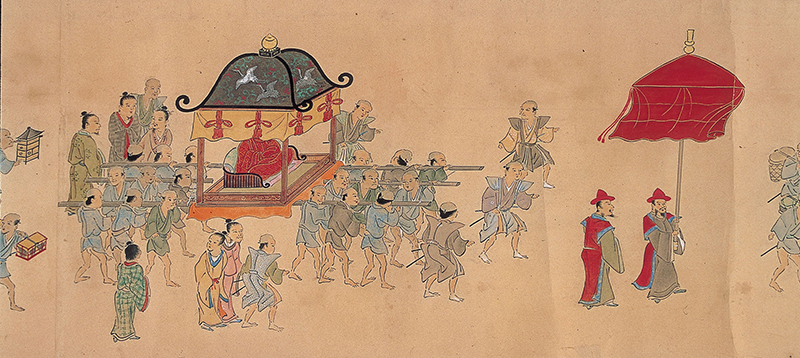painting of procession to Edo