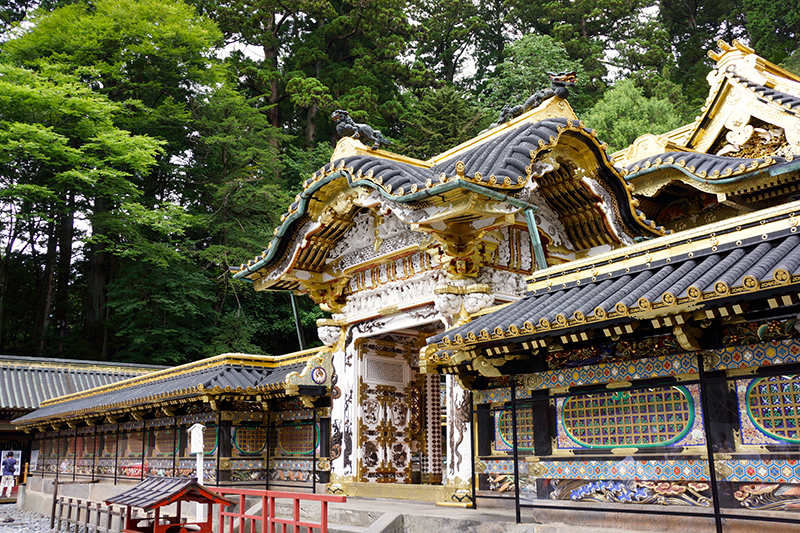 gilded entrance to nikko shrine