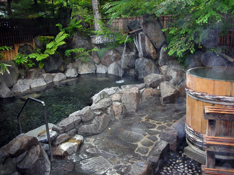 steamy outdoor onsen japanese body image