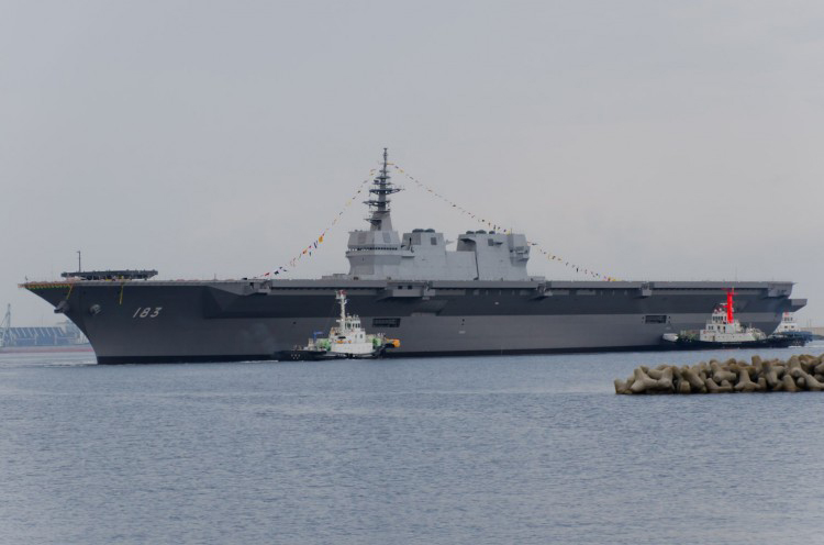 The helicopter carrier JS Izumo