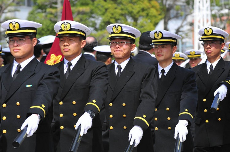 Graduates of JMSDF Officers Candidate School