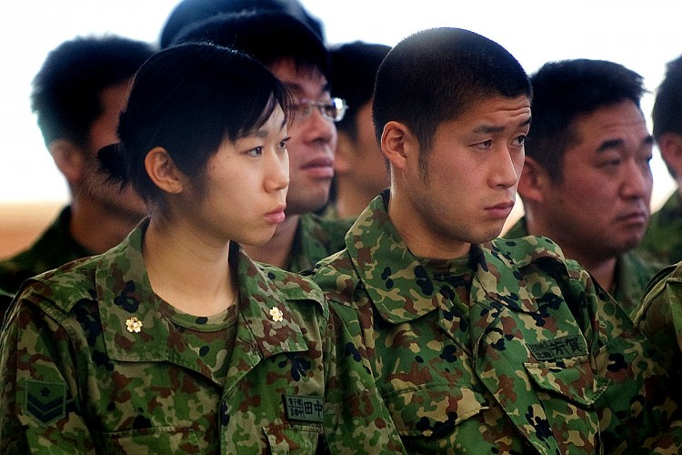 JSDF Personnel at ease
