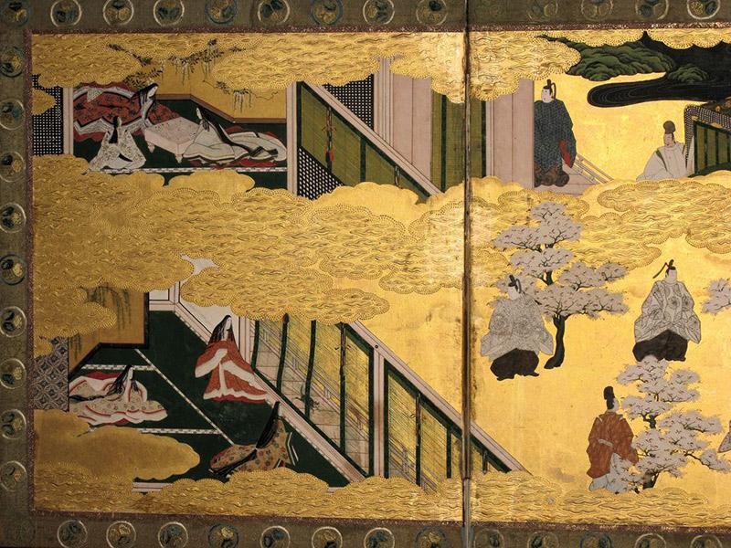 heian era genji screens murasaki shikibu