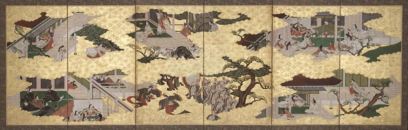 murasaki shikibu tale of genji screen