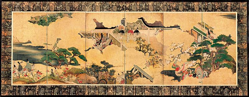 murasaki shikibu tale of genji scroll