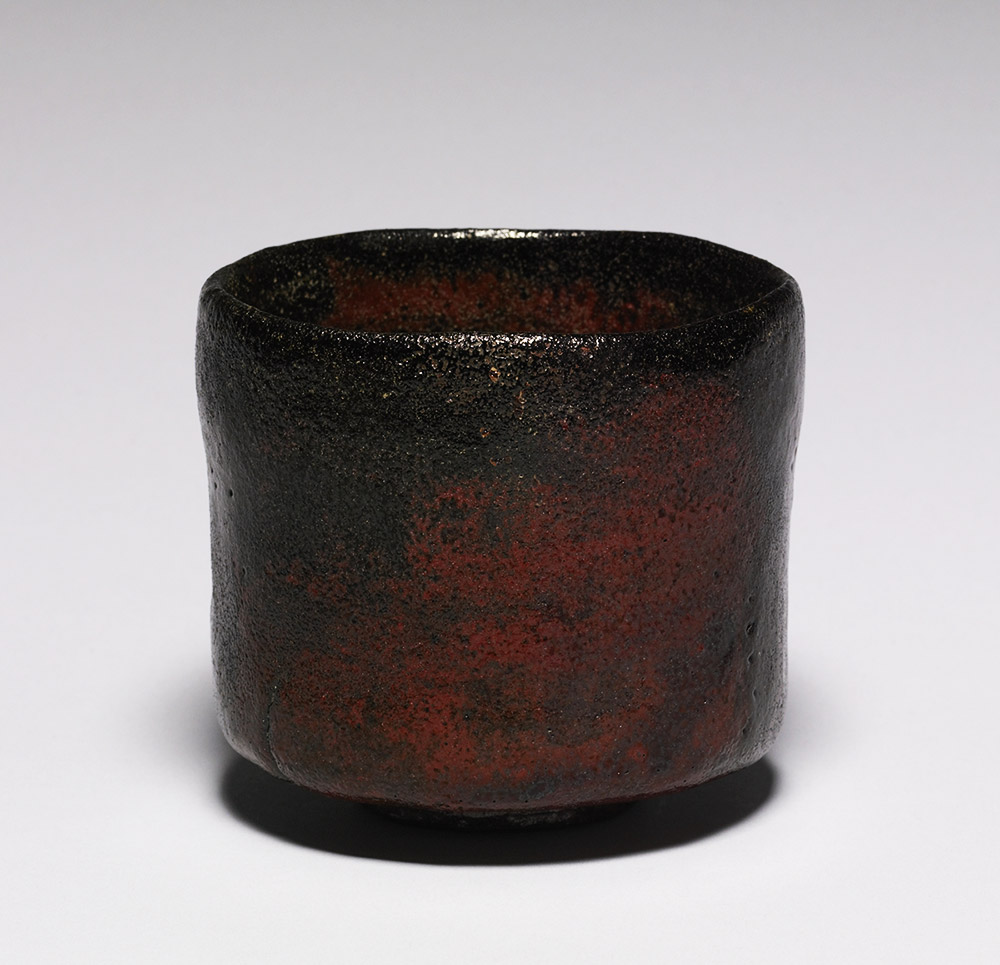 japanese pottery rust colored tea bowl