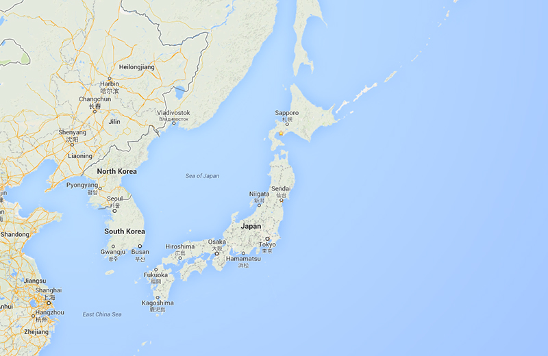 google earth view of japan