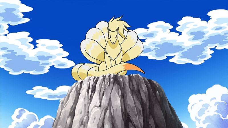 pokemon nine tails on a mountain