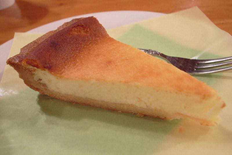 slice of cheesecake on a plate hokkaido cheesecake