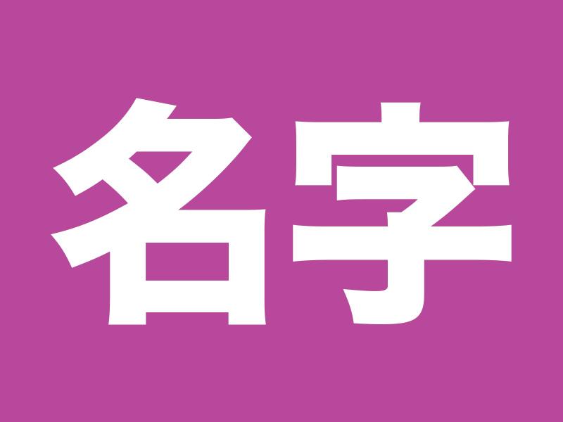 Kanji for 名字