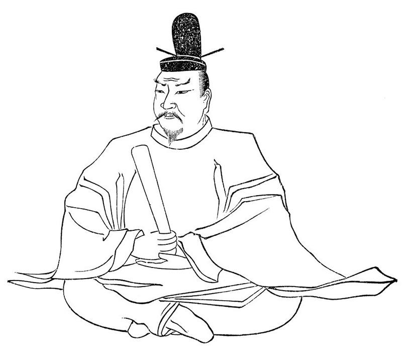 Drawing of Emperor Tenmu