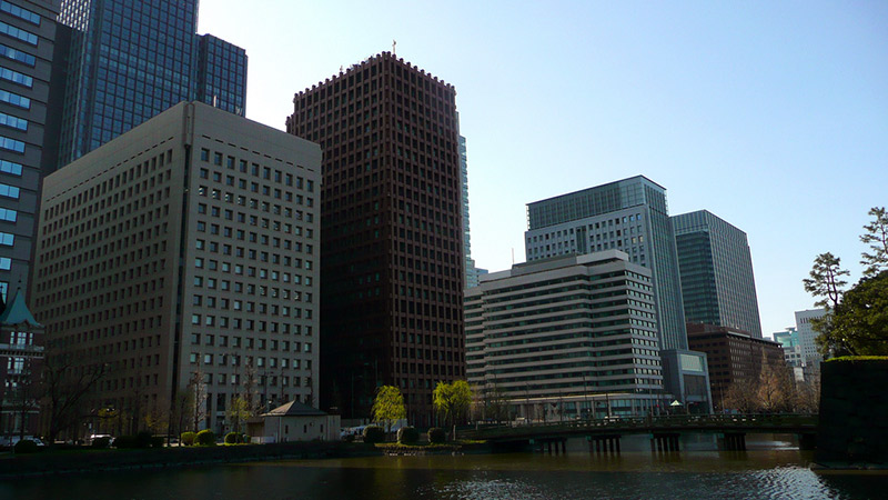 buildings in tokyojapan bay