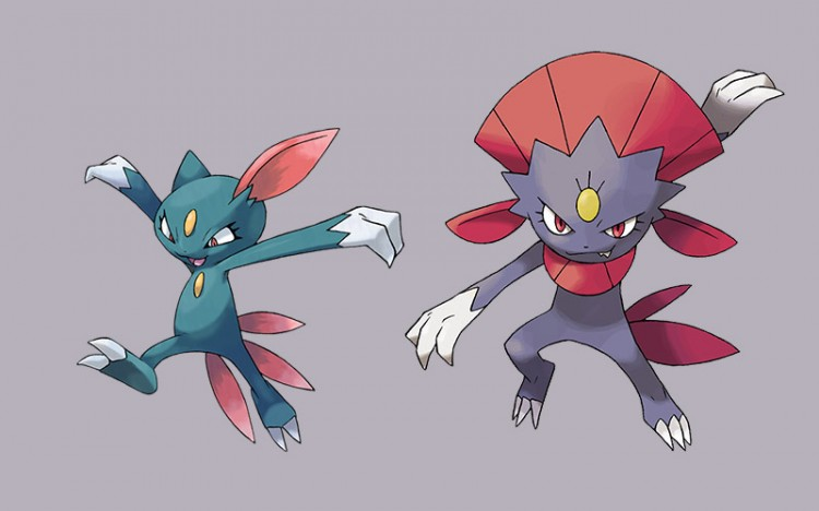 pokemon monsters sneasel and weaville