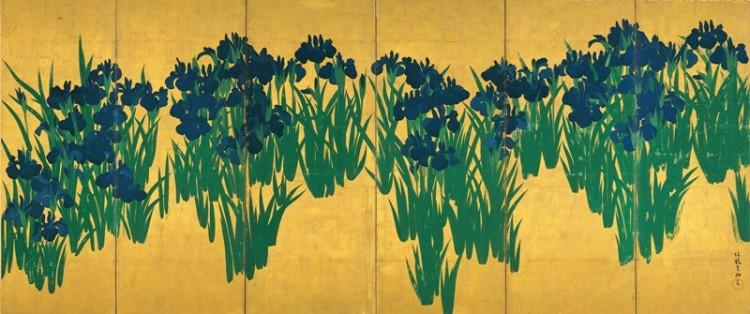 painting of irises