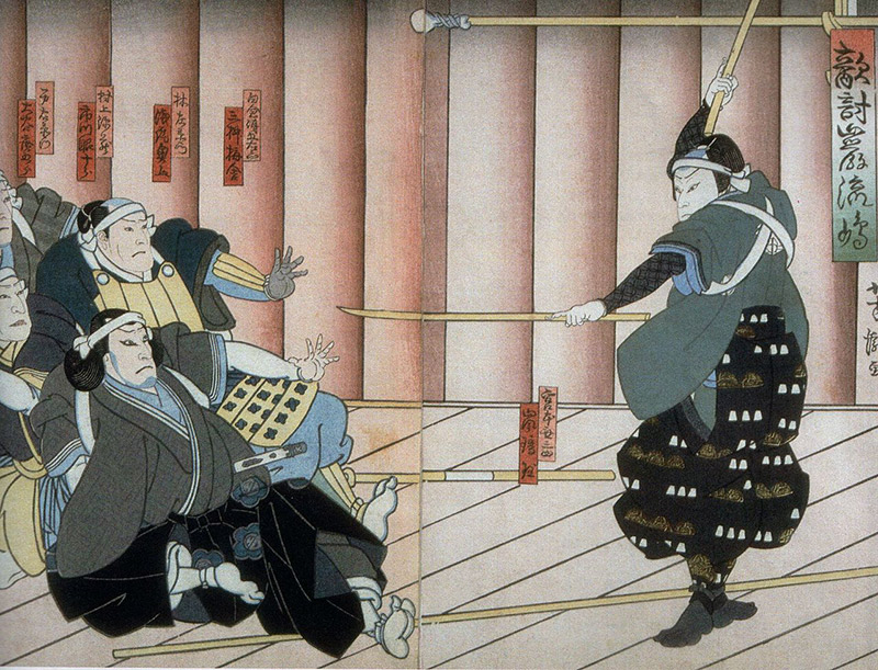 Miyamoto Musashi ambushing his foes