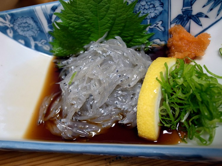 small fish on a plate japanese delicacy dorome