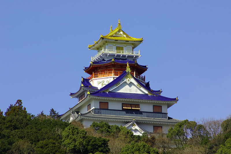 recreation of imitation of Azuchi castle