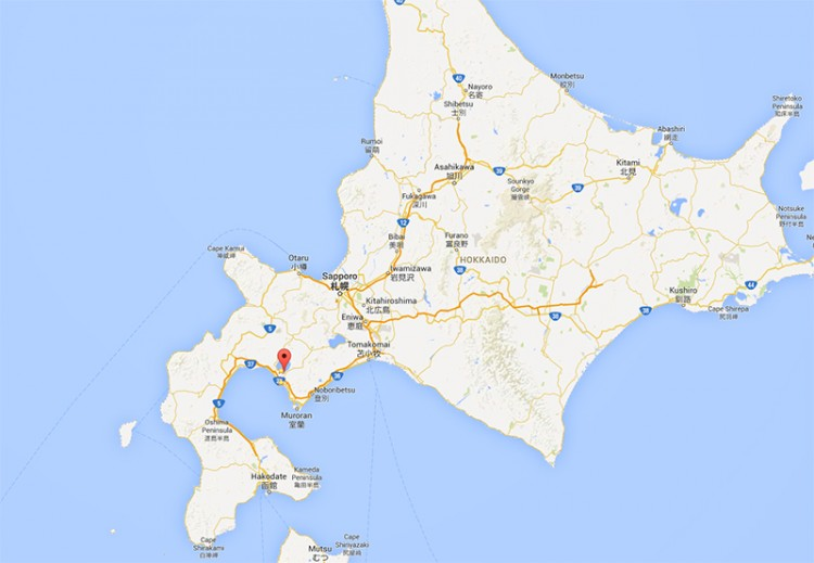 Google Map of Showa Shinzan, home of the Yukigassen tournament