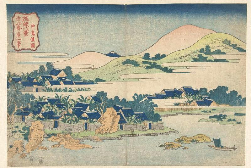 Woodblock print from Japanese artist Katsushika Hokusai