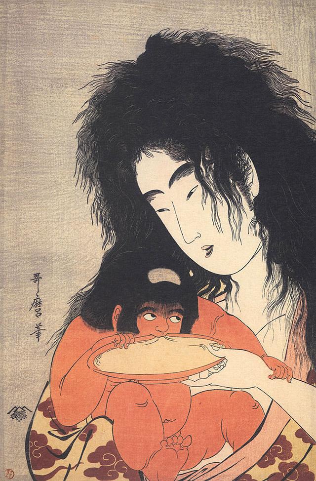 The work of Japanese artist Kitagawa Utamaro