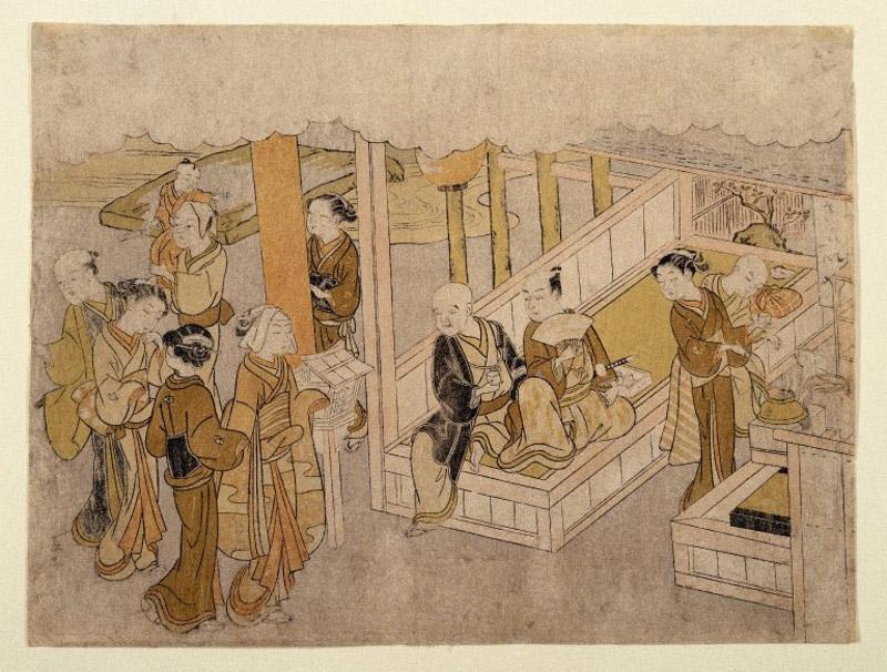 Ukiyo-e of a marriage ceremony