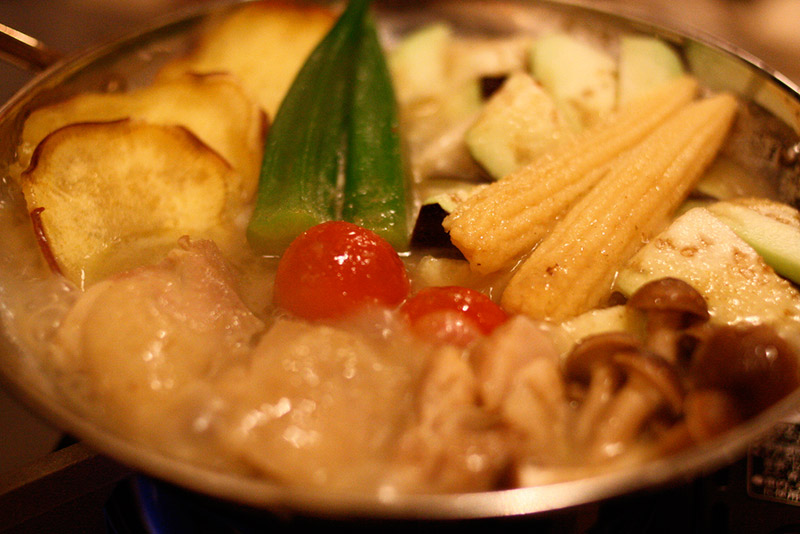 vegetable nabe dish