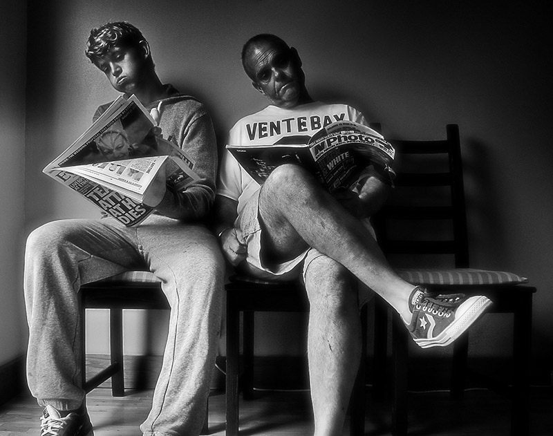 two men in a waiting room