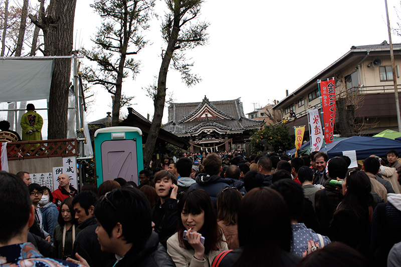 festival crowded with hospital-goers