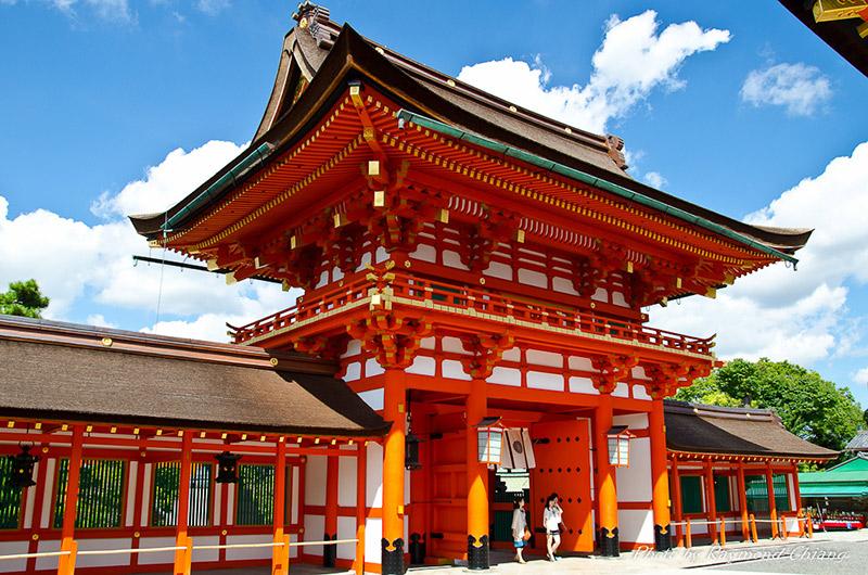bright temple shrine japan