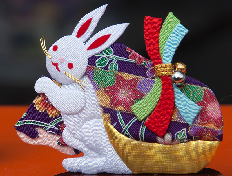 Japanese bunny rabbit made of cloth