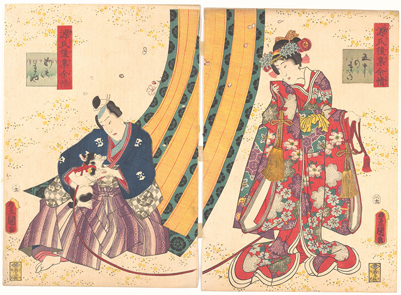 ukiyo-e print from the tale of genji
