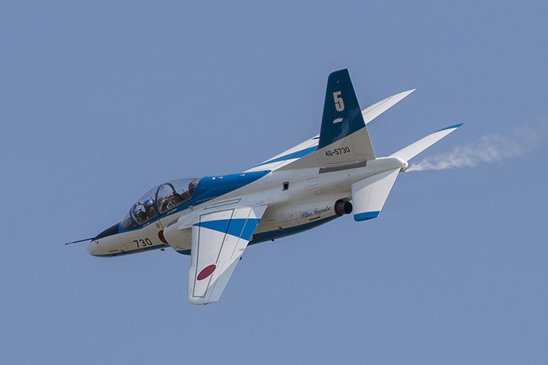 T-4 aircraft flying at a demonstration