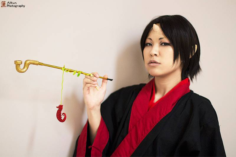 Cosplayer portraying Hozuki from Hozuki no Reitetsu