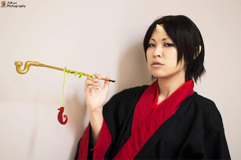 Cosplayer portraying Hozuki from Hozuki no Reitetsu