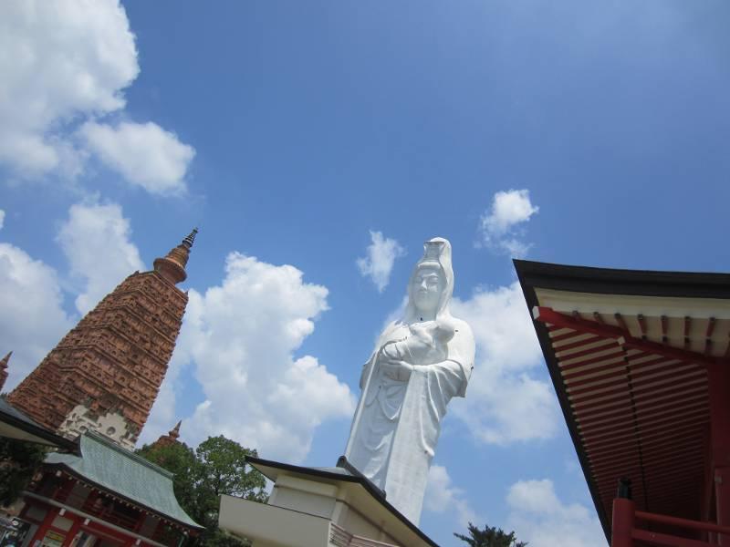A towering statue of Kanon in Kurume